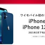 ワイモバイル:5G対応スマホ iPhone12・iPhone12 mini を2月下旬に発売