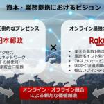 日本郵政と楽天が資本・業務提携:楽天は2400億円増資して基地局整備に充当